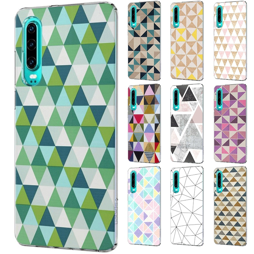 Funda de teléfono móvil para Huawei P30 P20 P10 P9 P8 P Sart Z Lite Pro funda dura triángulo bonito