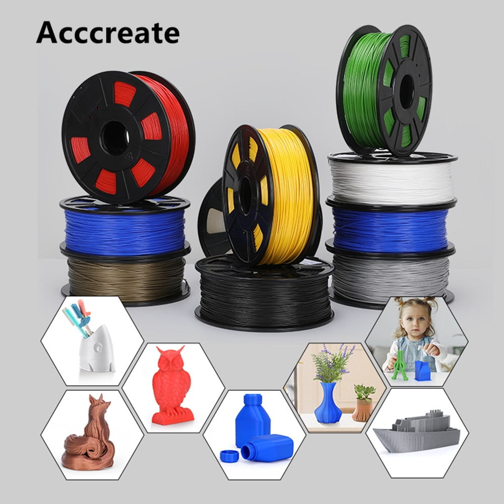 AliExpress - Acccreate 1X/2X/4X/8X 1Kg 1.75mm PLA Filament 3D Print For Creality Ender 3 Pro CR-10S V2 CR-6 SE Anycubic Mega X FDM 3D Printer