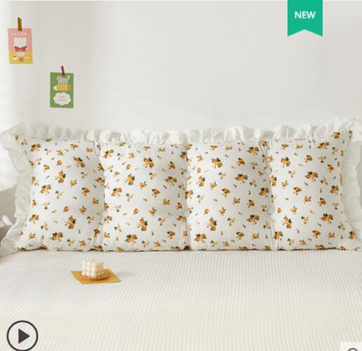 الكورية القطن السرير غطاء الوسادة السرير وسادة طويلة المخدة لطيف الأميرة غطاء الوسادة الكبيرة تاتامي