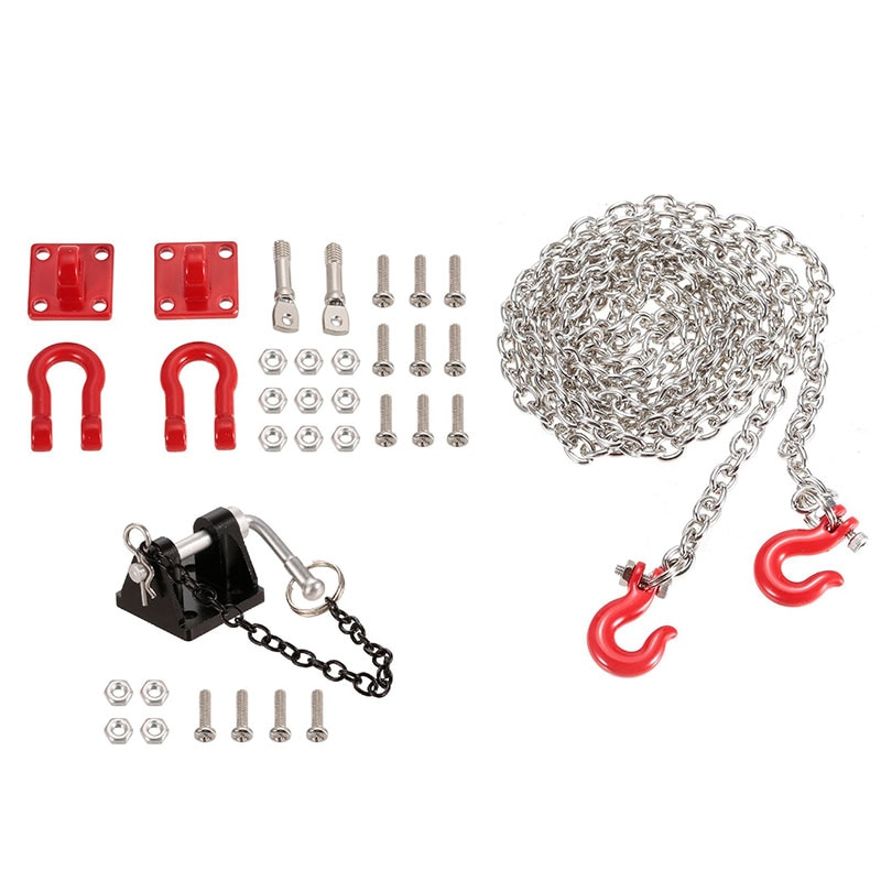 Soporte de grillete de cadena de remolque de Metal RC para 1/10 RC Crawler Traxxas Trx4 Axial Scx10 Wraith D90 Tamiya partes