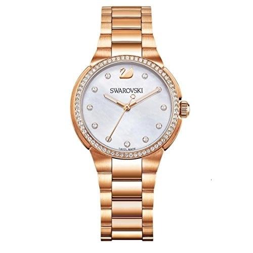 Swarovski Citi Mini Orologio al Quarzo da donna con pantalla analogico e oro rosa metallo braccialetto 5221176