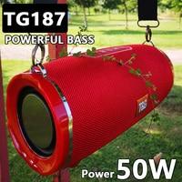 TG187 50 Вт высокой мощности Мощность Bluetooth Динамик Водонепроницаемый Портативный рулевая колонка для ПК Компьютерные колонки Динамик s Сабвуф...