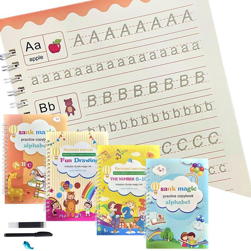 Тетрадь NewMagic для письма, набор для письма, книга для копирования на кальку для детей