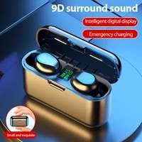 fast delivery%c2%a0waterproof tws bluetooth compatible earphones 9d noise reduction sports wireless stereo earbuds headsets with mic