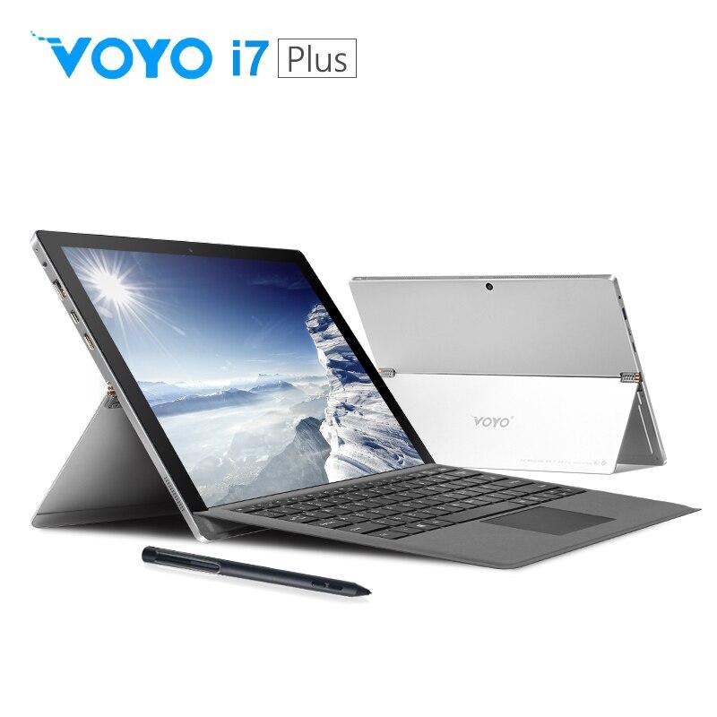 VOYO i7 plus 7th Gen i7 7500U VOYO 2 in 1 Tablet PC Ultra Slim Notebook 16GB RAM 512G SSD IPS Touchscreen license Win10 intel HD
