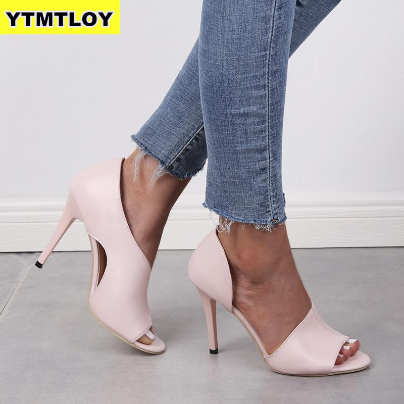New Womens Fashion Summer Sexy Exquisite High Heels Ladies Increased Stiletto Peep Toe Sandals Wedding Party Shoes Pink Heels