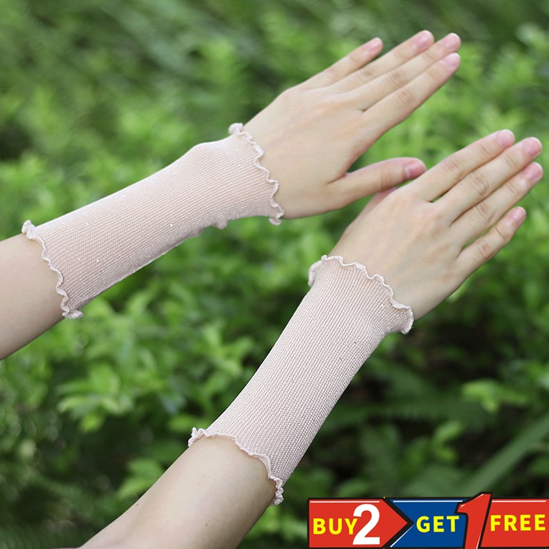 Women's summer mesh wristbands thin breathable sunscreen sleeves cover scars tattoo tattoo fake slee