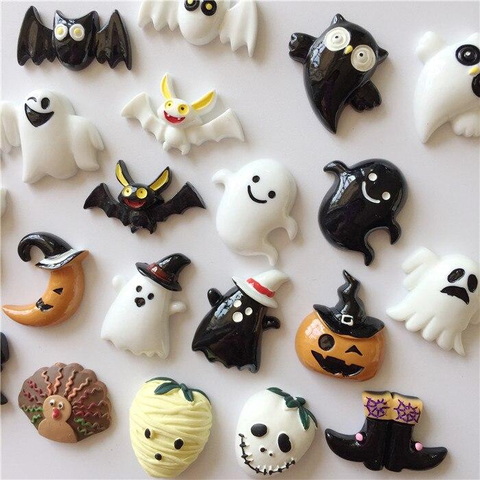 Ímã de geladeira kawaii, dia das bruxas, mini, fofo, abóbora, engraçado, crânios, bats, presente para festa, geladeira, adesivos magnéticos