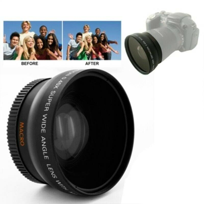 52mm 0.45x Wide Angle Lens Macro Lens for NIKON D50 D60 D70S D3000 D3100 D3200 D300S D70 D90 Camera Wide Lens Accessories