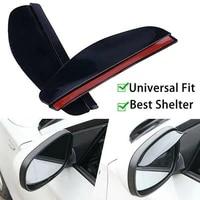 1 pair car rear view side mirror rain board eyebrow guard sun visor accessories black transparent 186cm side rear mirror visor