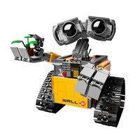Детский робот-конструктор Wall-E 687 шт., фигурки-конструкторы, Обучающие игрушки на Рождество, подарок на день рождения, 18 см