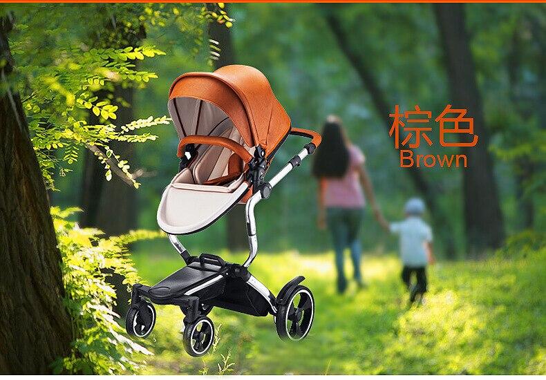 Travel Baby Stroller High Landscape Baby Stroller and Car Seat Reversible Pushchair Four-wheel Baby Cart Luxury Stroller 0-36M enlarge