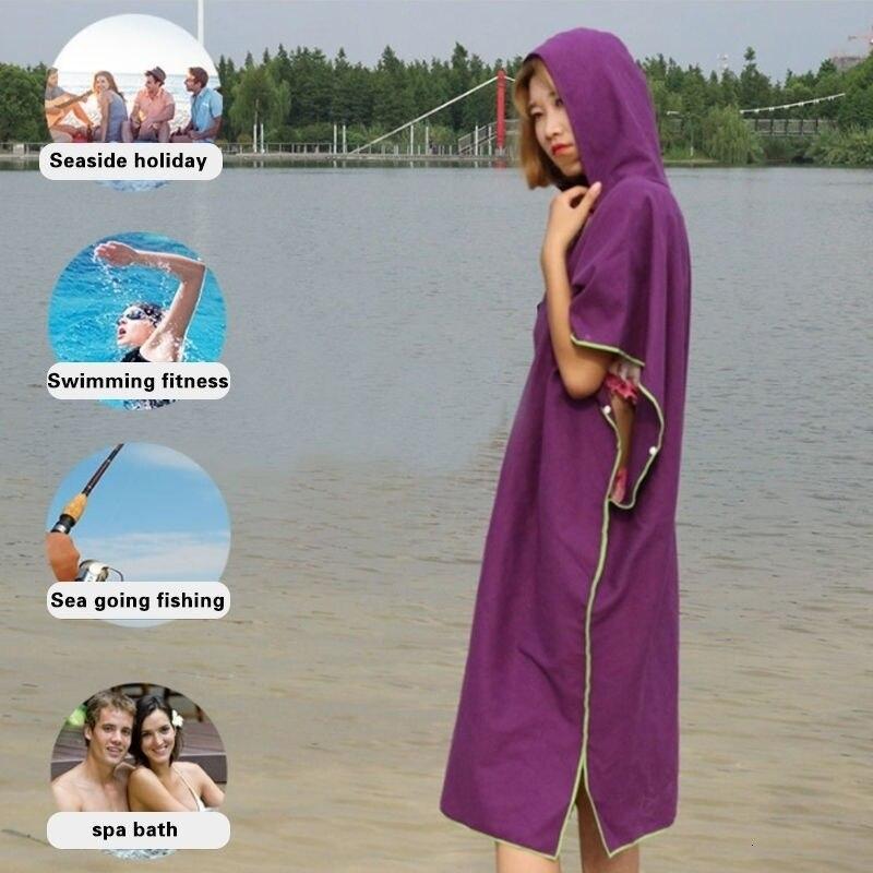 رداء حمام سريع الجفاف للكبار ، منشفة خارجية مع غطاء للرأس ، رداء حمام نسائي ، ملابس سباحة دبوس