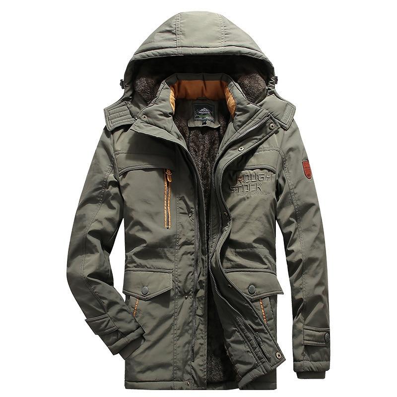 Мужская одежда зимнее Стеганое пальто средней длины плюс бархатное толстое пальто оверсайз мужское уличное теплое пальто зимнее пальто од...