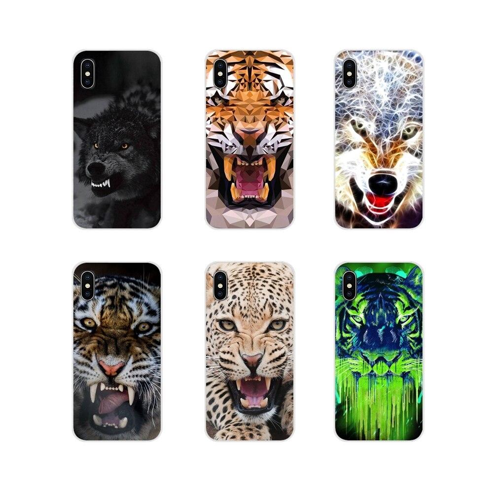 Accessoires Téléphone Étuis Pour Oneplus 3T 5T 6T Nokia 2 3 5 6 8 9 230 3310 2.1 3.1 5.1 7 Plus 2017 2018 Loup féroce Et Tigre