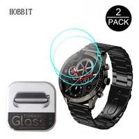 2 шт. для смарт-часов SENBONO 2021 MAX5 1,32 дюйма Защитная пленка 2.5D HD прозрачное закаленное стекло премиум-класса 9H стекло против царапин