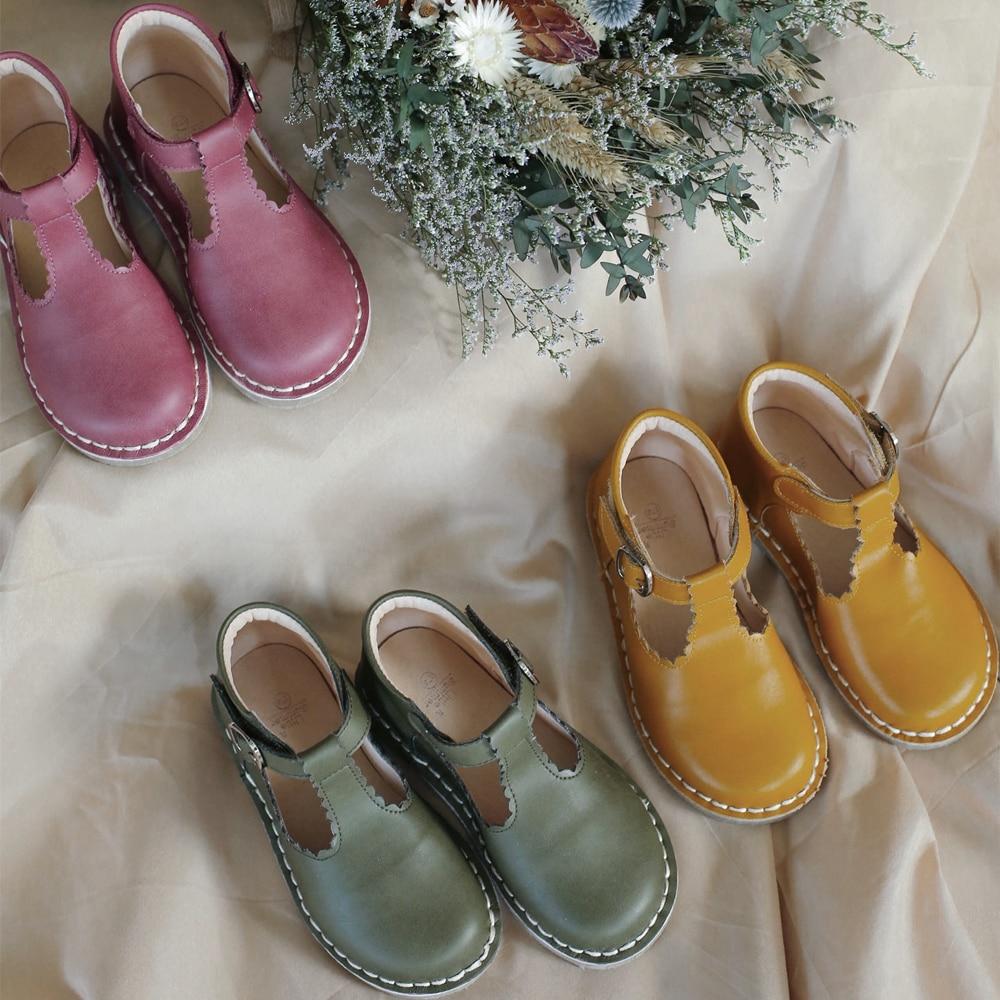 أحذية جلدية كلاسيكية للأولاد والبنات ، أحذية غير رسمية من جلد البقر بنمط مارتن 8T