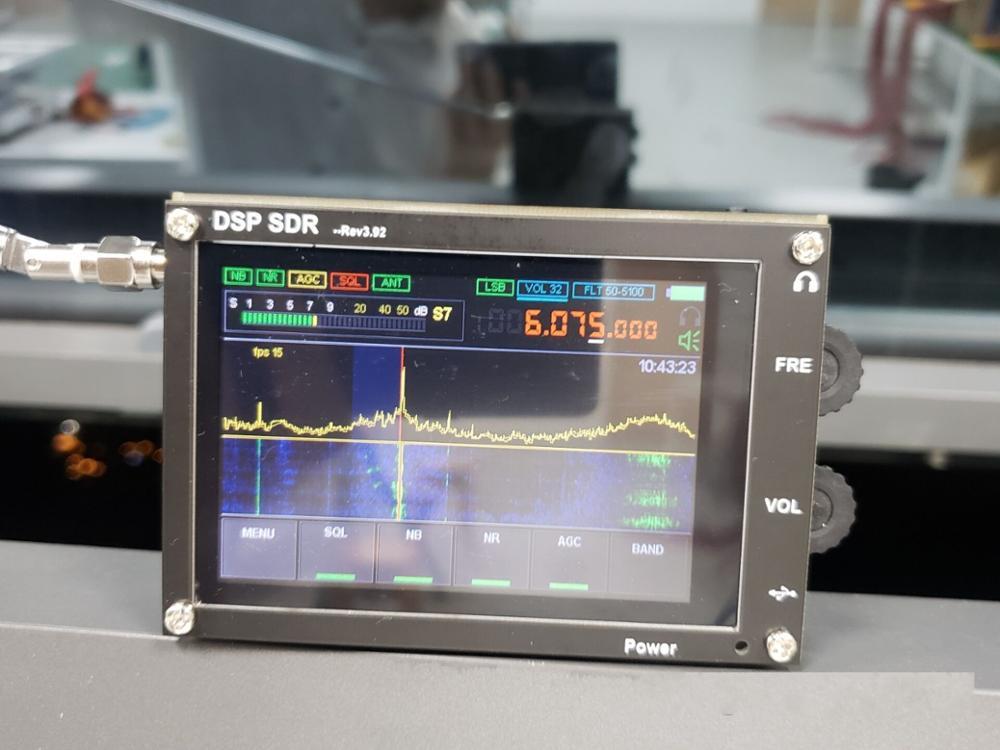 "Envío Gratis 50Khz-200MHz malaquita SDR Radio Malahit DSP SDR jamón transceptor RECEPTOR + 3,5 ""pantalla LCD táctil + batería STM32H742"