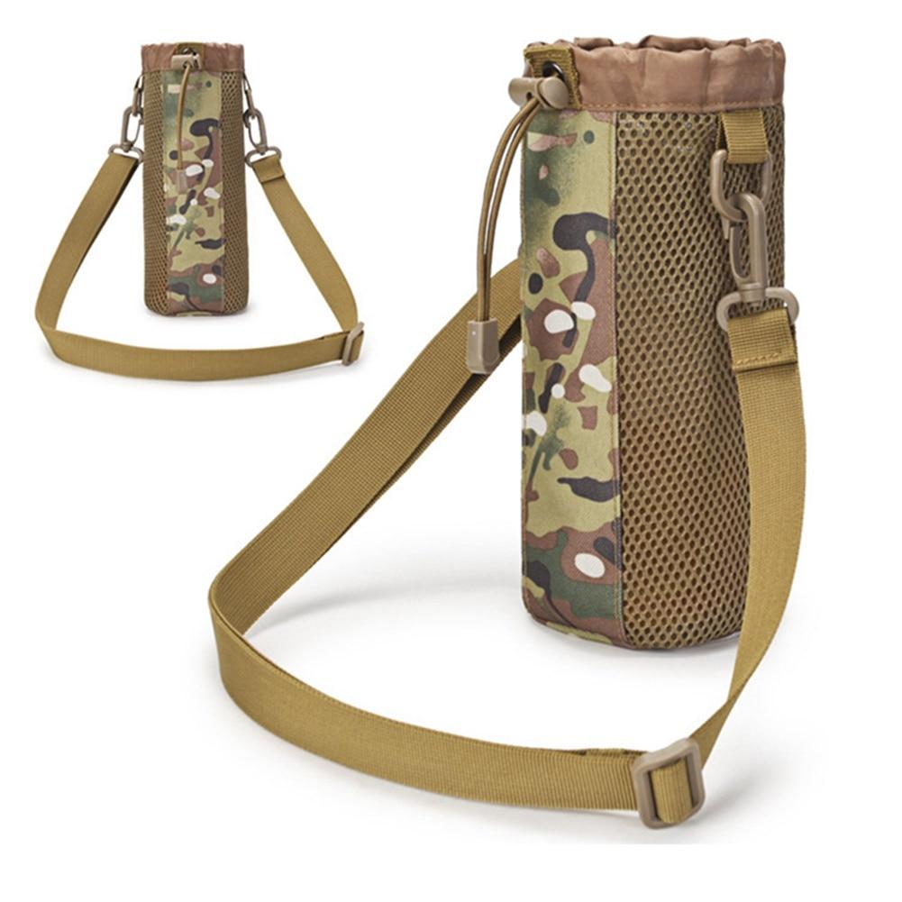 1 ud. Botella de agua deportiva para exteriores, bolsa para hervidor, bolsa militar táctica para botella de agua, bolsa para Camping, senderismo, Running