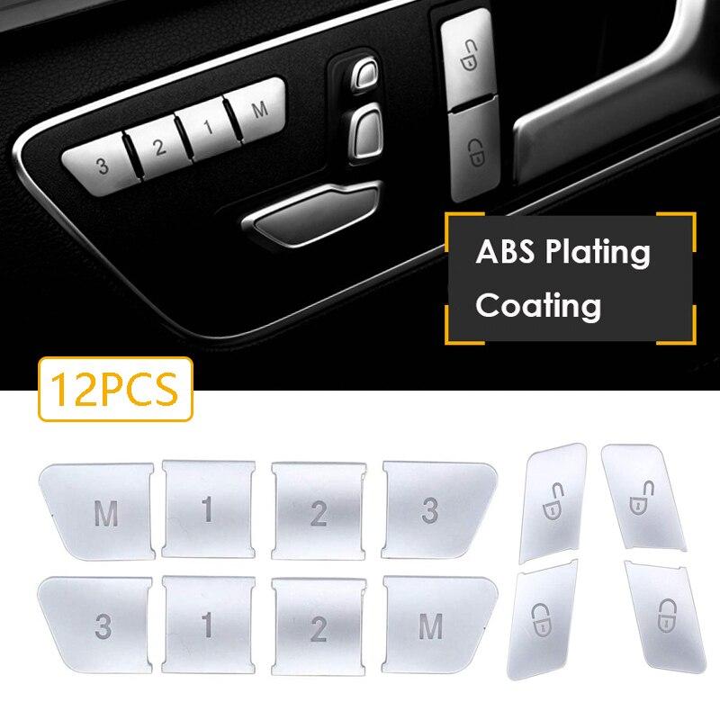 12 шт., наклейки на автомобильные дверные сиденья Mercedes Benz CLA/GLA/GLK/GLE/CLS/GL/ML/A/B/E