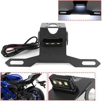 for yamaha yzf r6 2017 2018 2019 2020 rear license plate tail frame holder bracket with led light for yamaha yzf r6 2017 2020