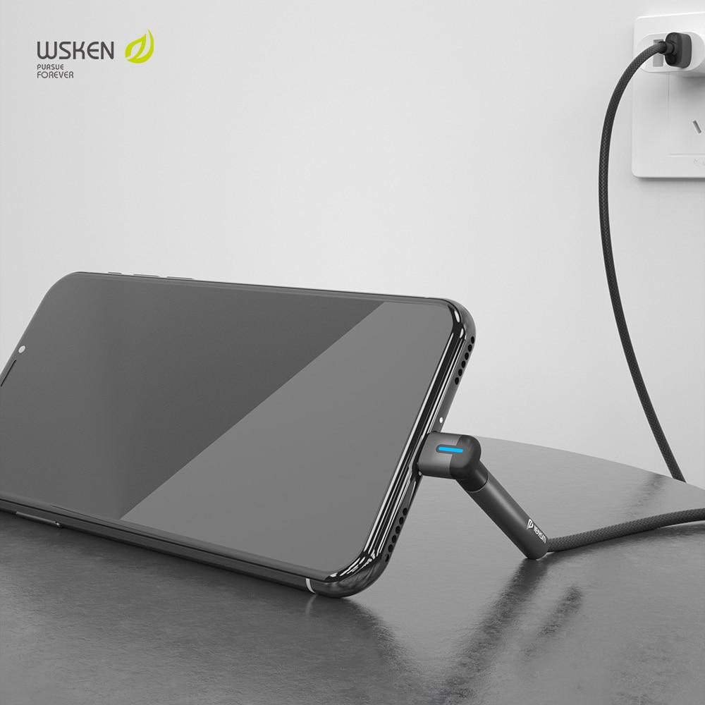 WSKEN cable usb para cable de iphone 11 pro max Xs Xr...