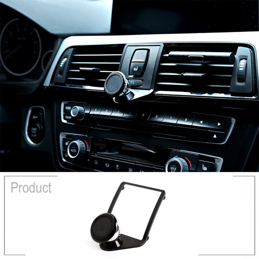 3 colores de aleación de aluminio de soporte de teléfono móvil Trim para BMW 1, 2, 3, 4, serie GT F22 F23 F30 F31 F34 F32 F33 F35 F36 F80 F82 F83 F87