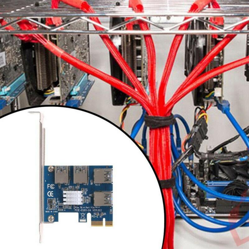 PCI-e إلى PCI-e محول 1 بدوره 4 فتحة PCI اكسبريس 1x إلى 16x USB 3.0 خاص الناهض بطاقة عالية الجودة موسع مجلس ل BTC مينر