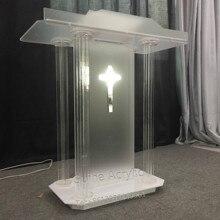 GUIHEYUN Toespraak Kerk Podium Acryl Lessenaar Preekstoel Event Bruiloft Gebed Plexiglas