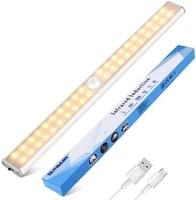 cabinet light closets pir motion sensor lamp 24 40 60 led usb rechargeable kitchen lights for cupboard wardrobe room