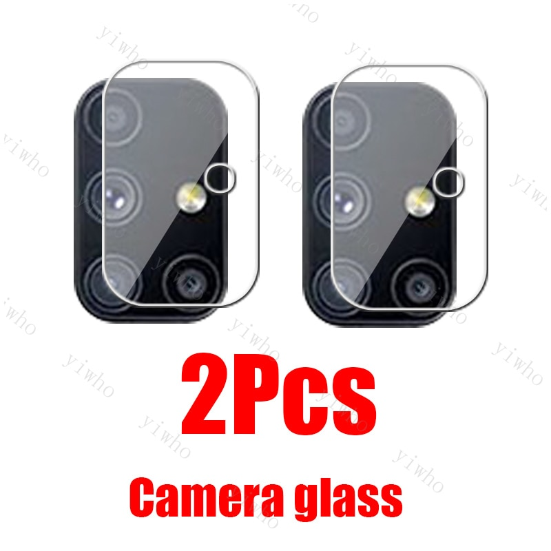 2Pcs Glass For Samsung M51 Camera glass On Galaxy S21 Ultra Plus S20 FE A71 A51 A41 A31 A21 A21S A12