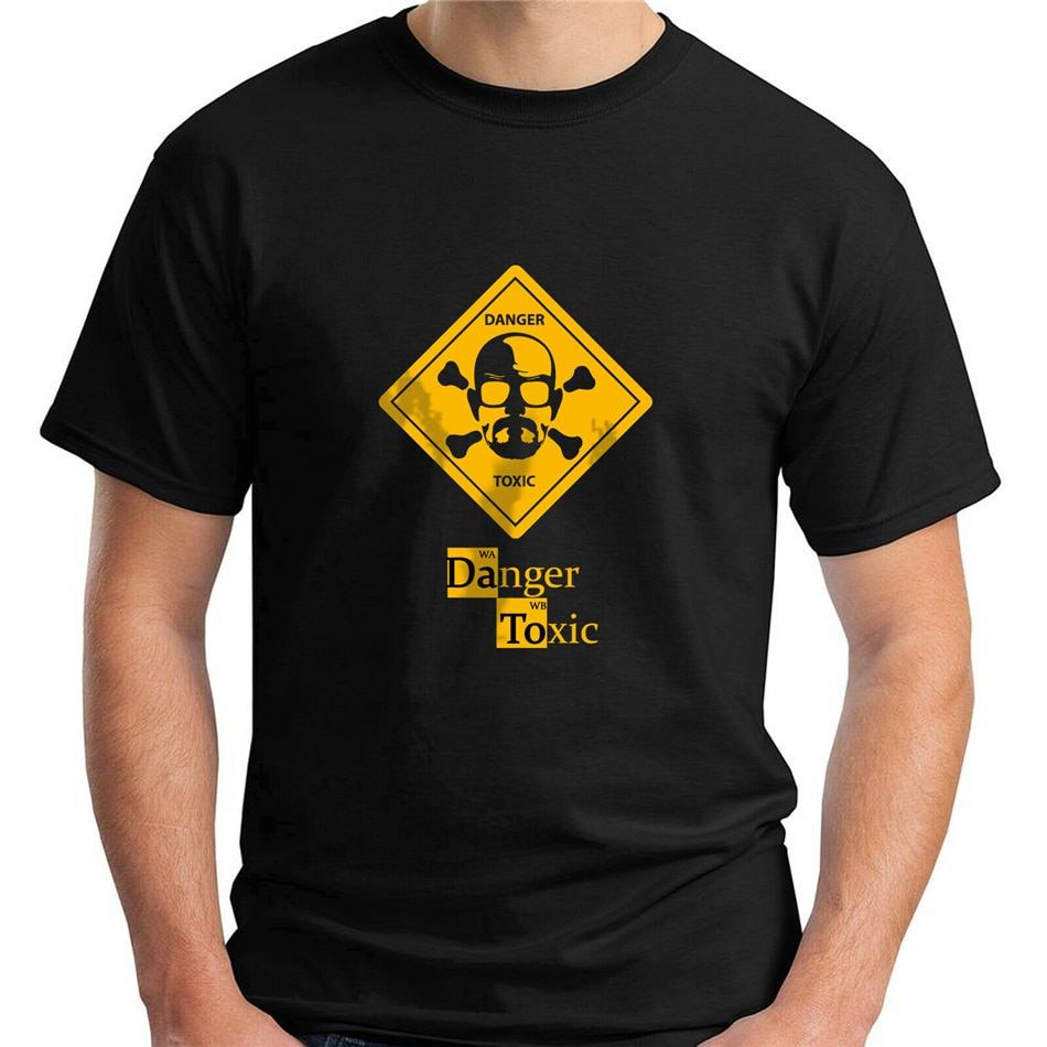 Camiseta Walter White Danger Toxic modelo inspirado en la serie Breaking Bad Black talla S-3Xl camiseta de alta calidad