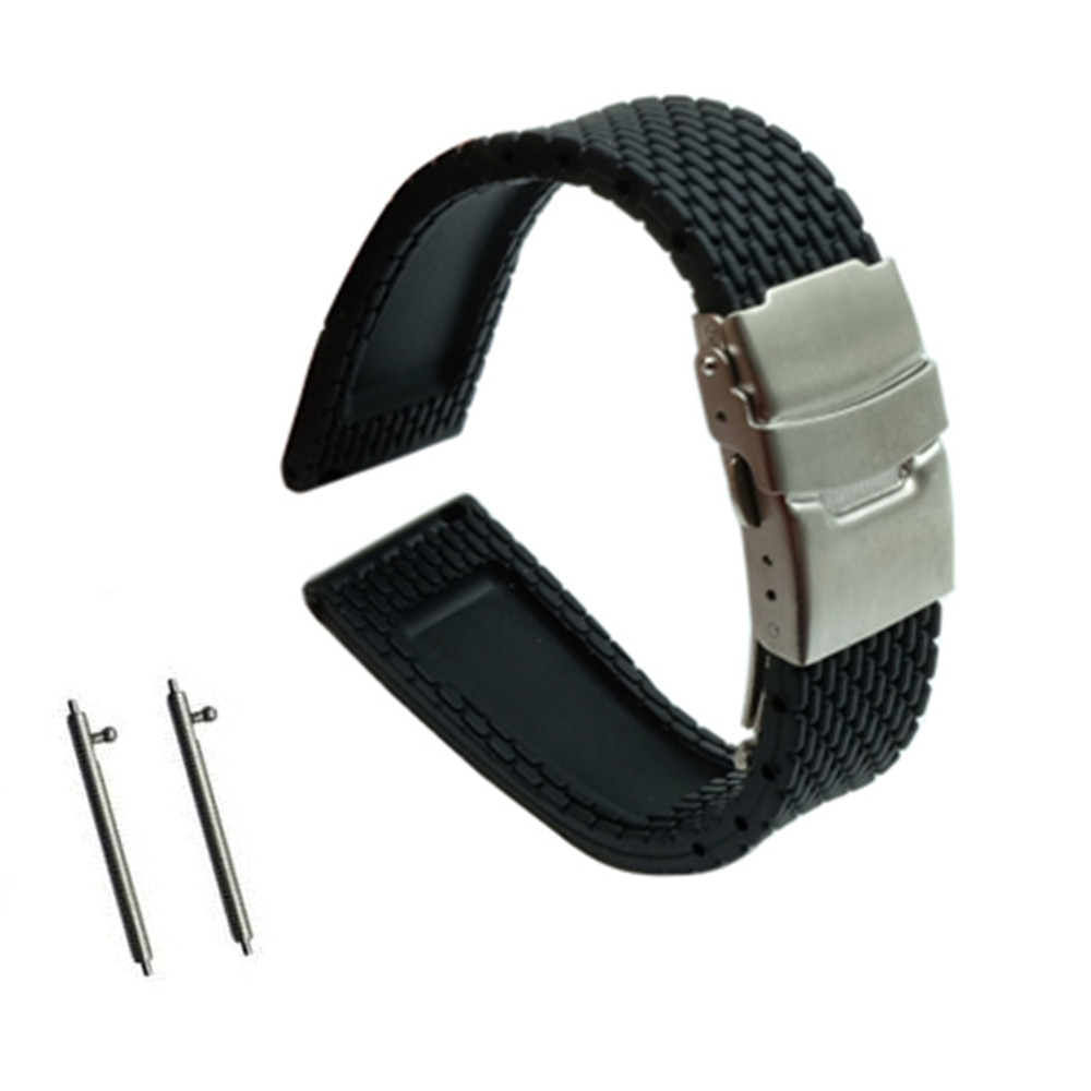 Quick Release Silicone Rubber Watchband for Diesel DZ Fossil Men Women Watch Band Wrist Strap 18mm  20mm 22mm 24mm calfskin leather watchband quick release watch band wrist strap 18mm 20mm 22mm 24mm smart watch strap watches accessories
