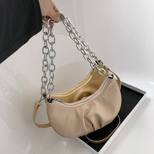 PU Leather Shoulder Bags For Women 2020 Chain Design Luxury Hand Bag Female Travel Bags Sac A Main Femme Ladies Bags