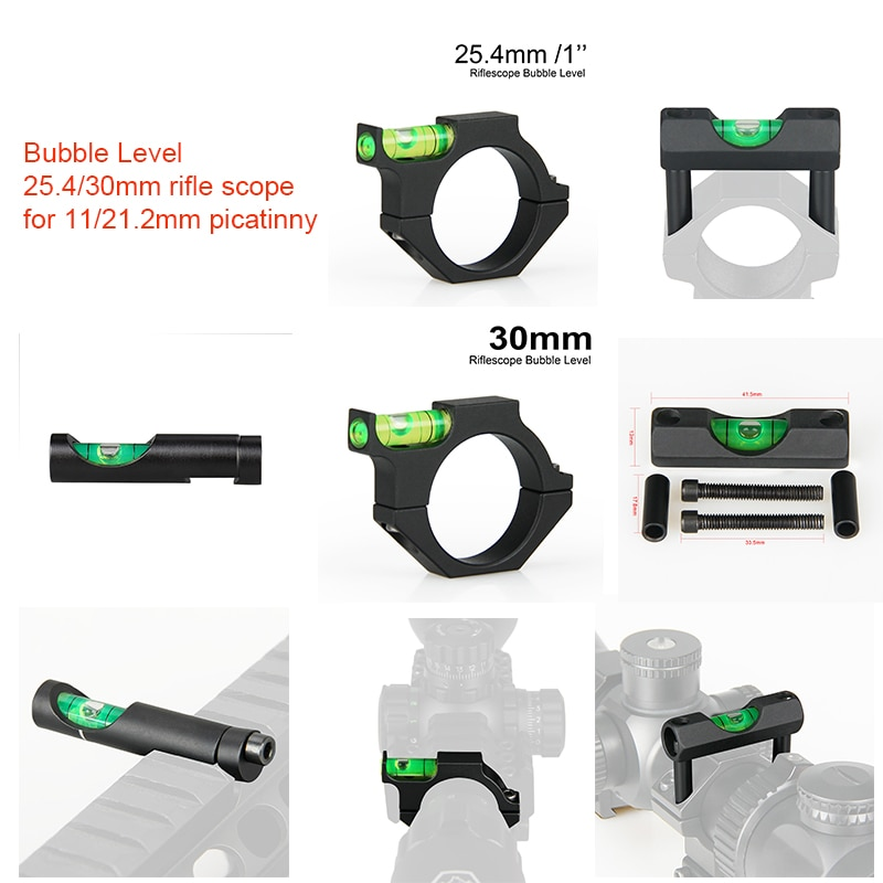 spirit level for 25mm rifle scope mount rings sights PPT Bubble Level for Airsoft Guns Rifle Scope Mount for 11mm 21.2mm Picatinny Weaver Rail 25/30mm Rifle Sight Scope Mount CB-1