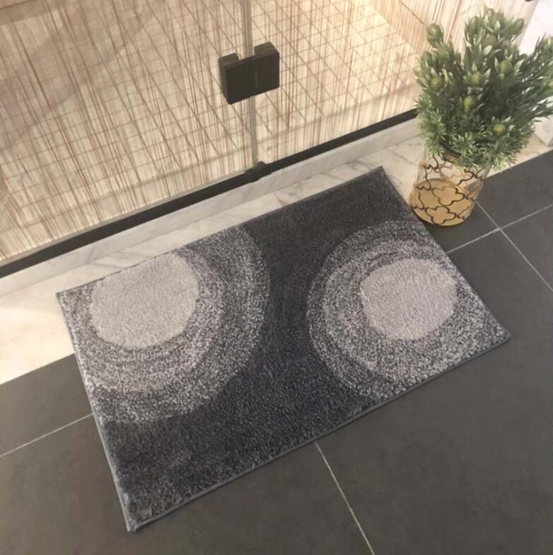 سجادة حمام من ألياف القطن الاسكندنافية فائقة الامتصاص ، سجادة أرضية لحوض الاستحمام ، ممسحة لغرفة الاستحمام والمرحاض
