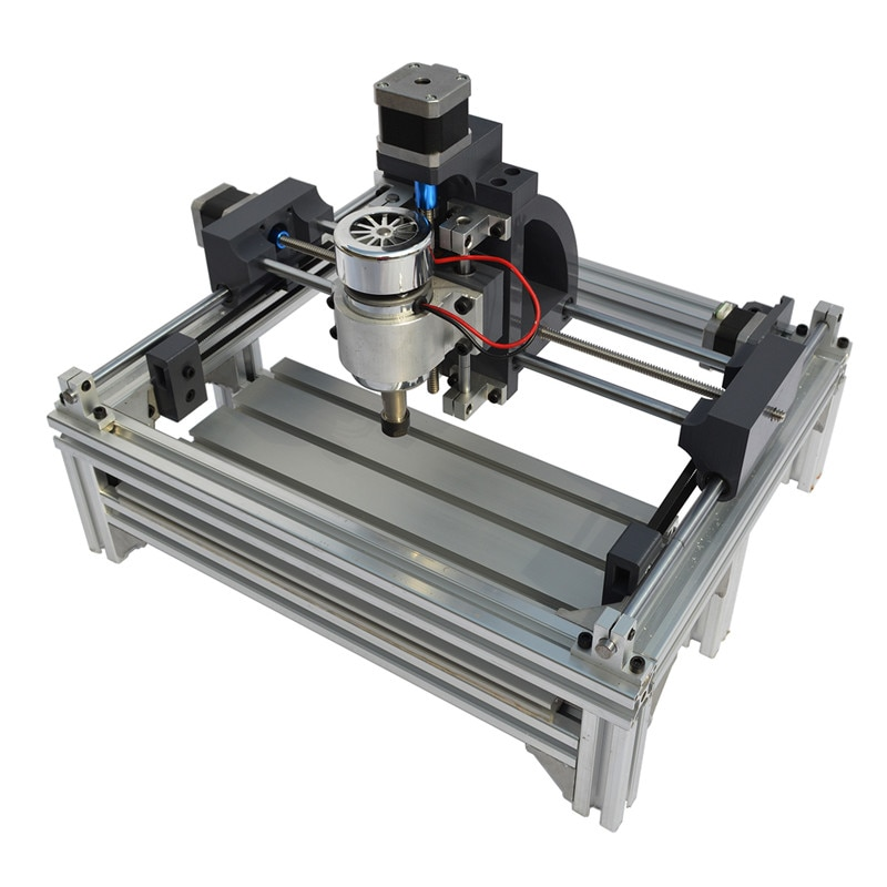 2415 máquina de grabado de alta resistencia CNC Router madera Metal máquina cortadora de grabado Motor de husillo grabador 240x150x70mm
