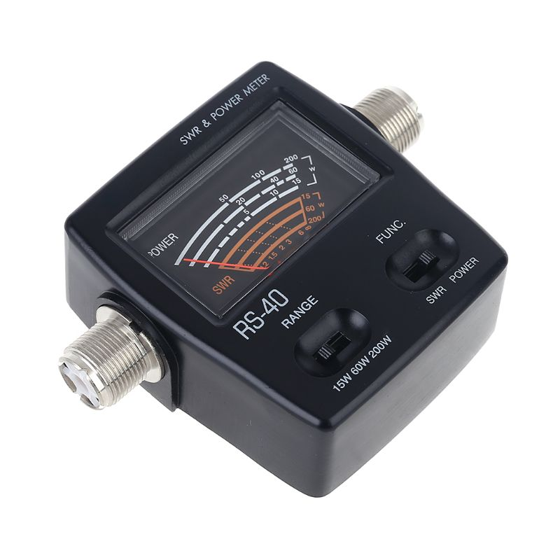 NISSEI RS40 Power SWR Meter RS-Measurable Up to 200W Power Range with Adapter enlarge