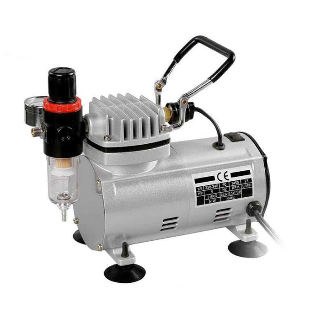 AC-18 سلسلة الطاقة أدوات المحمولة البخاخة رذاذ البسيطة الهواء ضاغط المهنية الجاذبية تغذية ثنائي عمل مكبس ضاغط الهواء