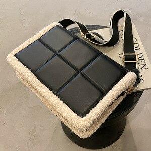 Fashion Plush Tote Women's Handbag Casual Pu Leather Shoulder Messenger Bags for Women 2021 Women's Designer Bag Purse