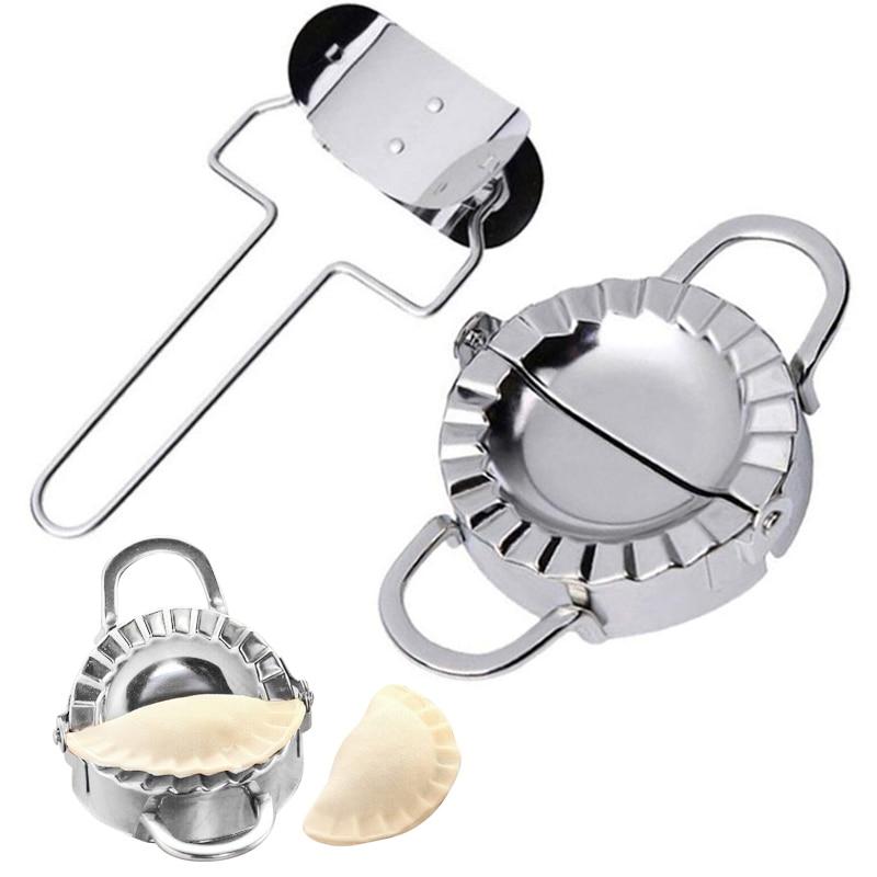 2 шт./компл. практичная форма для изготовления пельменей из нержавеющей стали, форма для пирога, пельменей, кухонные гаджеты, аксессуары, Пря...