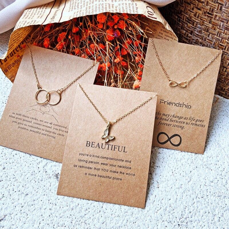 Vagzeb nova moda ouro cor liga bonito elegante cristal borboleta pingente colares para as mulheres moda acessórios jóias