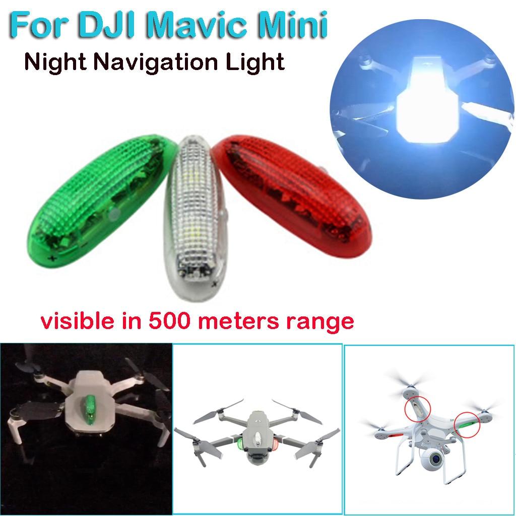 Luz LED de navegación nocturna lámpara estroboscópica para DJI Mavic Mini accesorios 500m de largo alcance de coloridos focos de adsorción