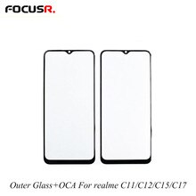 2in1 Mobile Phone Touch Panel Outer Glass With OCA Front Glass Replacement For realme C11 C12 C15 C1