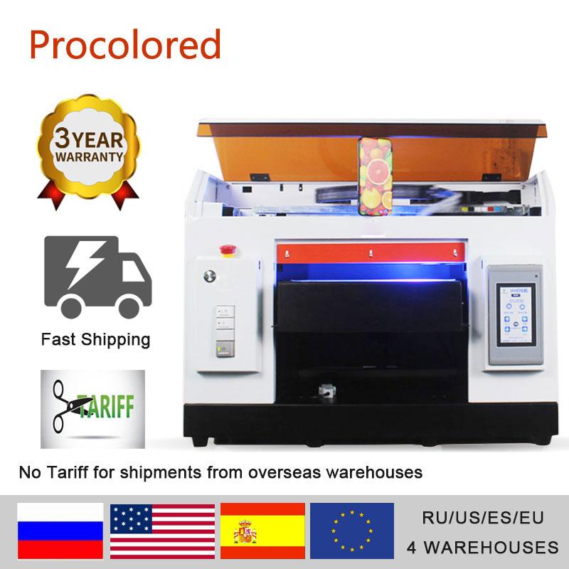 Impresora DTG Procolored, impresora plana de LED UV automática, tamaño A3 A4 impreso para camiseta, funda de teléfono, camiseta, Logo, foto, impresión DIY