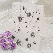 Flocon de neige dentelle fleurs en plastique gaufrage dossier modèle pour bricolage Scrapbooking Photo Album papier carte fond décoration