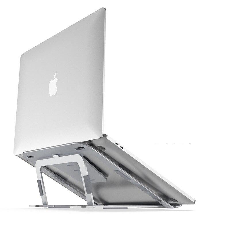 Top Quality Laptop Stand Adjustable Foldable Holder Aluminum Bracket for Macbook Asus Lenovo Laptop Heat Reduction Cooling  Base