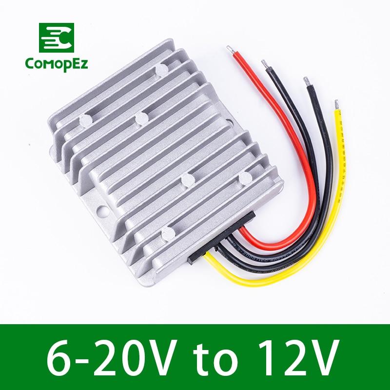 6-20 v a 12 v 4a 12a boost buck módulo 12 v tensão estabilizador 48 w 144 w dc conversor dc fonte de alimentação do regulador para carros luzes