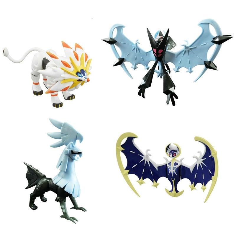 Miniko Solgaleo Lunala Charizard Venusaur Blastoise Necrozma Silvally Big Size Anime Cartoon Action Figures Collection Model Toy