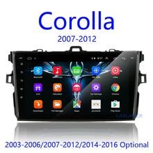 2Din android 8.1 Rádio Car Multimedia Player Para Toyota Corolla E140/150 2007 2008 2009 2010 2011 2012 2013 2014 2015 2016 2 din